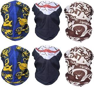 Sunland Tube 骷髅头面具头巾魔法围巾头巾颈带 6Pack 蓝色 smMZ2black3blue1brown