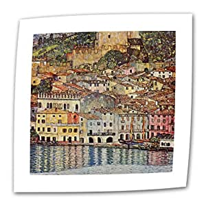 Art Wall Malcesina at Gardasee 18 by 18-Inch Flat/Rolled Canvas by Gustav Klimt with 2-Inch Accent Border