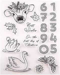 蝴蝶猫头鹰鸟蜻蜓鹿熊透明橡胶印章剪贴簿卡片制作圣诞感恩节邮票 T1494 155 * 205mm(6.1 * 8.1in) 19082202