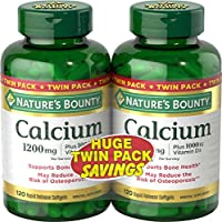 Natures Bounty 自然之寶 液體鈣 + 維生素D軟膠囊 (120粒*2瓶)