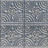 从素色到美丽的数小时 205as-24x24-25 锻铁天花板砖,古银色,25 Siver 205sr-24x24-25