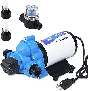 DC HOUSE 33-系列工业水压泵,水膜泵,带电源插头,适用于墙壁插座 - 110V,3.3 GPM,45 PSI