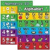 ABC 字母和数字 1-10 视觉学习海报图表套装 - 层压 - 双面 18 x 24 ABC1-10VL