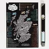 Jock Must Do 苏格兰 Scratch-It-Map 管装,纸张,多色,均码