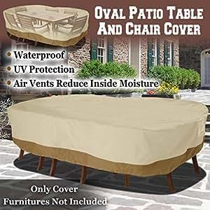 BenefitUSA 长方形 274cm 长桌/椅套 露台花园 户外家具 冬季保护 大码