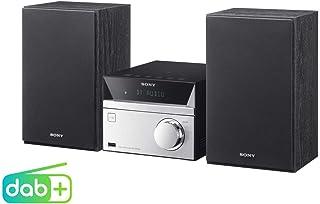 Sony 索尼 CMT-SBT20B 微系统设备 / 组合音箱(紧凑设计, CD, FM / DAB+调音器, RDS, USB接口, 蓝牙, NFC) ,银色
