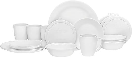 Corelle 康宁 餐具套装 20件 白色 适合4人使用