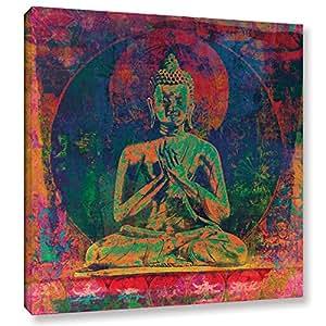 "Tremont Hill Elena Ray""Buddha Remix X"" 画廊包装油画 14X14"" 0ray245a1414w"