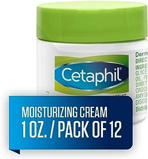 Cetaphil 丝塔芙 保湿霜 适用于干燥/敏感性皮肤,无香料 16 盎司(2 瓶装) 1 Ounce (Pack of 12)