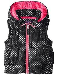 Pink Platinum Little Girls' Bgpuffer Vest In Foil Dot