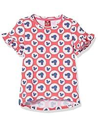 Disney 迪士尼童装 女童 针织短袖T恤 KVM8M1KTKG2404XR
