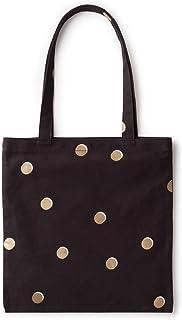 Kate Spade New York 帆布书手提袋 Black, Gold, White One_Size