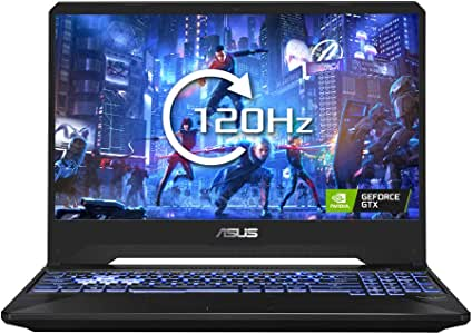 ASUS TUF FX505 15.6 Inch Full HD 120 Hz Gaming Laptop (AMD Ryzen R5-3550H, Nvidia GeForce GTX 1650 4 GB, 256 GB PCI-e SSD, 8 GB RAM, Windows 10)