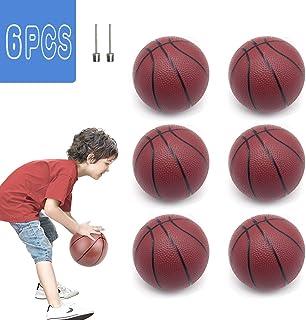 FLYING TIGER 6 件装迷你篮球玩具 5.5 英寸充气篮球带篮球针,适合室内户外运动沙滩泳池游戏派对更换