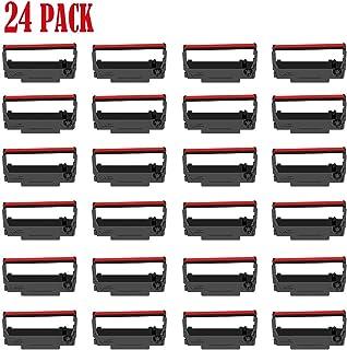 24 包 ERC30 ERC-30 ERC 30 34 38 B/R 兼容收银机墨带 ERC38 NK506(黑色和红色)