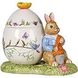 Villeroy & Boch Bunny Tales Osterei Max 带麦赫尔,装饰罐子用于美食,硬瓷,11 x 6.5 x 9.5 厘米,彩色,11 x 6.5 x 9.5 厘米