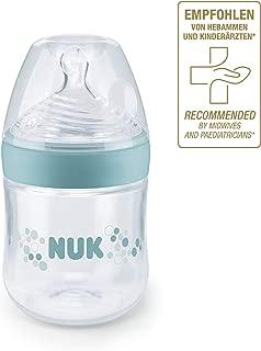NUK 10215224 Nature Sense 嬰兒奶瓶,0-6個月,含乳房狀硅膠奶嘴,不含BPA,1 件,150 ml,S(茶),綠色