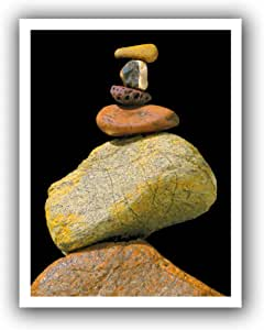 """ArtWall 18 by 22-Inch Flat """"Cairn Study"""" Unwrapped Canvas Art by Dean Uhlinger, Holds 14 by 18-Inch Image"""