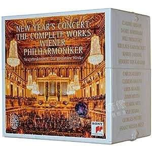进口cd:维也纳新年音乐会75周年纪念合辑 23CD套装含120页硬封页小册 索尼古典音乐 Wiener Philharmoniker New Year's Concert Jubilee Edition