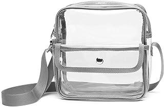 透明钱包体育场认证,适用于 NFL,PGA,透明斜挎包,适合女士,男士,音乐会学校