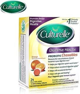 Culturelle 康萃樂 每日咀嚼片,有益于吸收的膳食補充劑,每天一次,包含100%天然來源的乳酸桿菌GG –實驗研究數量很大的益生元?,24粒
