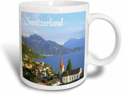 mug_155661_3 InspirationzStore Photography - Switzerland tourist travel souvenir - Swiss landscape photo of pretty lake town Weggis near Lucerne - Mugs - 11oz Magic Transforming Mug