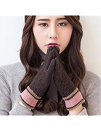 Naturhand 南禾 男女士手套 韩版情侣触屏手套 男士秋冬户外开车加绒保暖手套 可爱学生女针织毛线手套