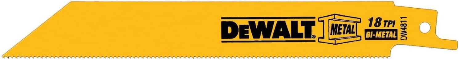 DEWALT DW4811B 6 英寸 18 TPI 直背双金属互向锯片 6-Inch DW4811