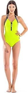 GlideSoul 女式低领 V 领连体泳衣