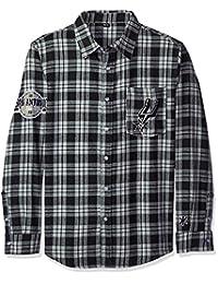 KLEW NBA San Antonio Spurs Wordmark Basic Flannel Shirt