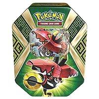 Pokemon 太阳和月亮护卫士崛起收藏家的锡盒,含 4 个增高包,并带有铝箔胶囊 Bulu-GX