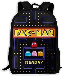Pac-Man 中性学生书包拉链女孩男孩书包书包背包背包成人背包