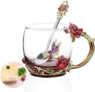 各种茶杯咖啡杯 杯子 12盎司(约354.9毫升)13盎司(约368.4毫升)杯子 Red Short 12oz unknown