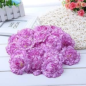 Sundlight 丝绸 康乃馨 花朵 仿真花 适用于婚礼 聚会 家居装饰 紫色 JYHP0126ZZ0FZ|SUNDUS