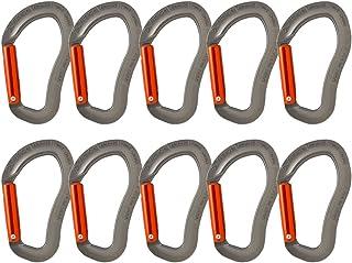 Fusion Climb Techno 缩放直门符合人体工程学的登山扣灰色/橙色 10 件装