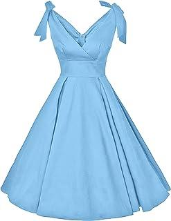 GownTown 20 世纪 50 年代 V 领蝴蝶结秋千鸡尾*礼服