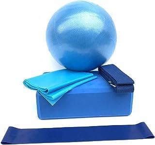 Aisheny 5 合 1 瑜伽砖套装,支持无乳胶 EVA 泡沫柔软防滑表面,适用于瑜伽普拉提冥想