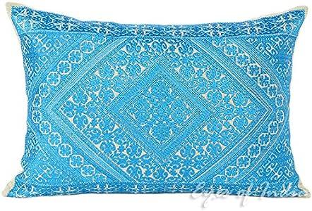 Eyes OF india 蓝色彩色装饰刺绣沙发沙发抱枕靠垫套摩洛哥波西米亚风波西米亚印度