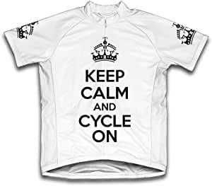 Scudo Keep Calm and Cycle On 超细纤维短袖骑行服