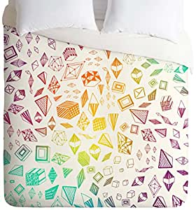 DENY Designs Iveta Abolina Colorful Crystals Duvet Cover, Twin/Twin X-Large