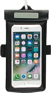 防水手机壳,浮动袋适用于 iPhone 7、7 Plus、6s、6s Plus、5s,带臂带,通用至 6.0 英寸手机,支持触摸 黑色