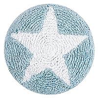 快乐装饰儿童可水洗靠垫 ( 30X 30CM ,蓝色 / 白色,圆形星星 )