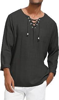 PJ PAUL JONES 男式长袖苏格兰提布吉利亚麻衬衫 适用于短裙
