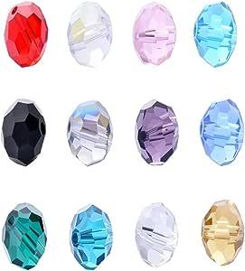 wanjin 批发 1500 颗双锥体4 毫米水晶珠 15 种颜色带储物盒 圆形 6mm unknown
