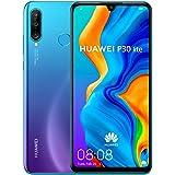 Huawei 华为 P30 Lite 128 GB 6.15英寸FHD Dewdrop 显示智能手机,带MP AI超宽三摄摄像头,4GB RAM,Android 9.0无sim卡手机,单SIM卡,英国版,蓝色