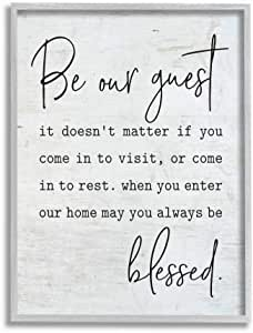 Stupell Industries Be Our Be Our Guest Home 家庭 多色 11 x 14 fwp-239_gff_11x14