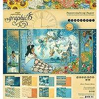 Graphic 45 GR4501930 Dreamland 8x8 纸板,Ys/m,多色