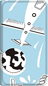 智能手机壳 手册式 对应全部机型 薄型印刷手册 cw-211top 套 手册 动画 极薄 轻量 UV印刷 壳WN-PR021116-S AQUOS PHONE f SH-13C 图案E