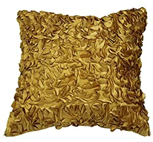 Violet 亚麻丝绸塔夫绸抽象 3D 设计 43.18 厘米 X 43.18 厘米装饰抱枕 Abstract Gold ABSTRACT CU