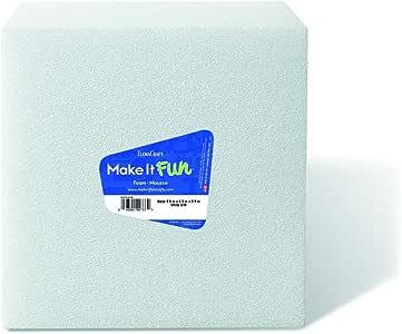 "FloraCraft Styrofoam 圆盘排列器 白色 10 x 10 x 10"" B101010WS/6"